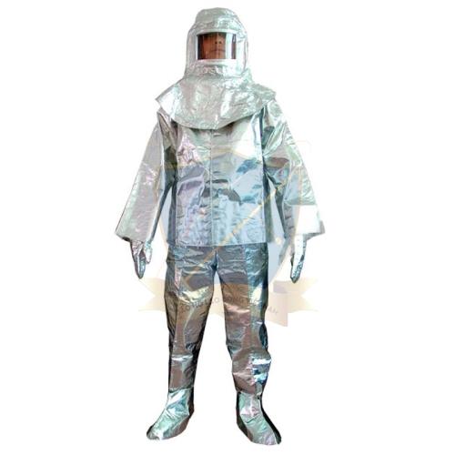 Bộ quần áo chống nóng chịu nhiệt tráng bạc