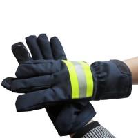 Găng tay chống cháy Nomex xanh đen