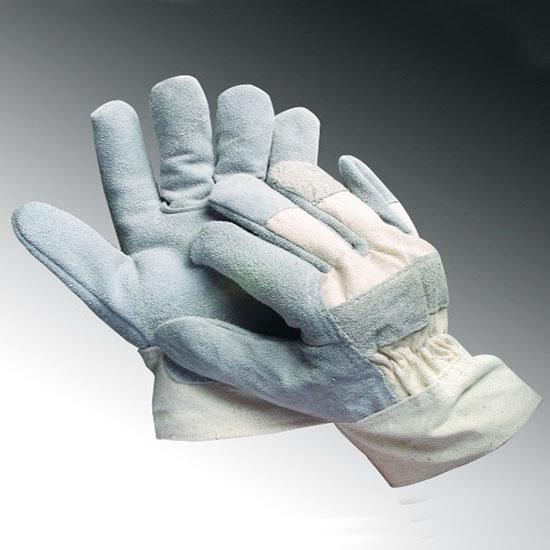 GĂNG TAY DA HÀN 2 LỚP ( LOẠI NGẮN) Găng tay da hàn ngắn kết hợp vải bạt