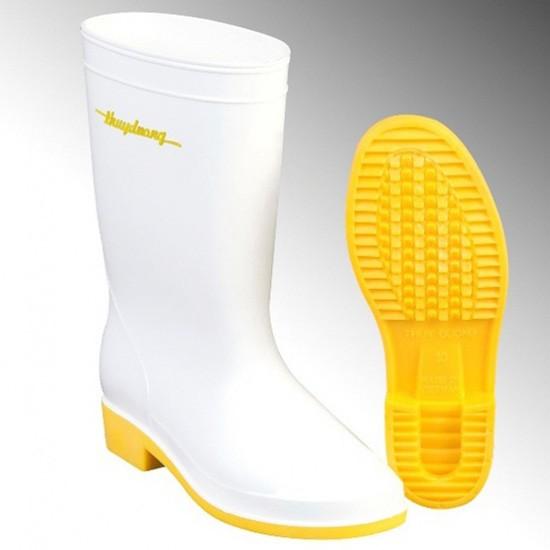Ủng bảo hộ màu trắng- đế vàng U-287